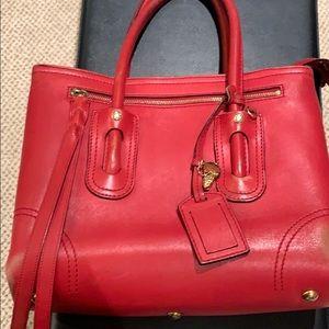Alexander McQueen handbag.  Red Thick Leather.